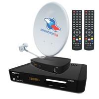 Комплект спутникового телевидения Триколор-ТВ Full HD на 2 телевизора / HD-приемники GS E501 и GS C591